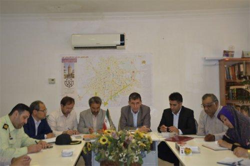 اولین جلسه مناسب سازی و مبلمان شهری گنبد کاووس برگزار شد