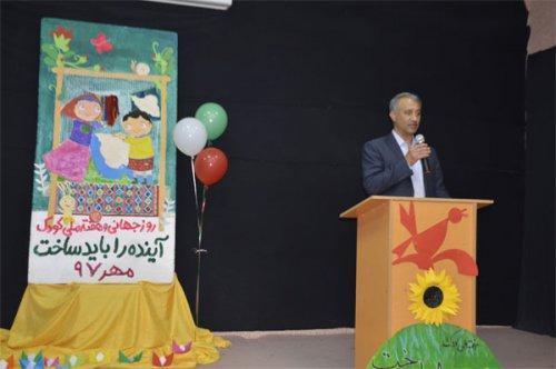 مراسم بزرگداشت روز جهانی و هفته ملی کودک در گنبد کاووس برگزار شد